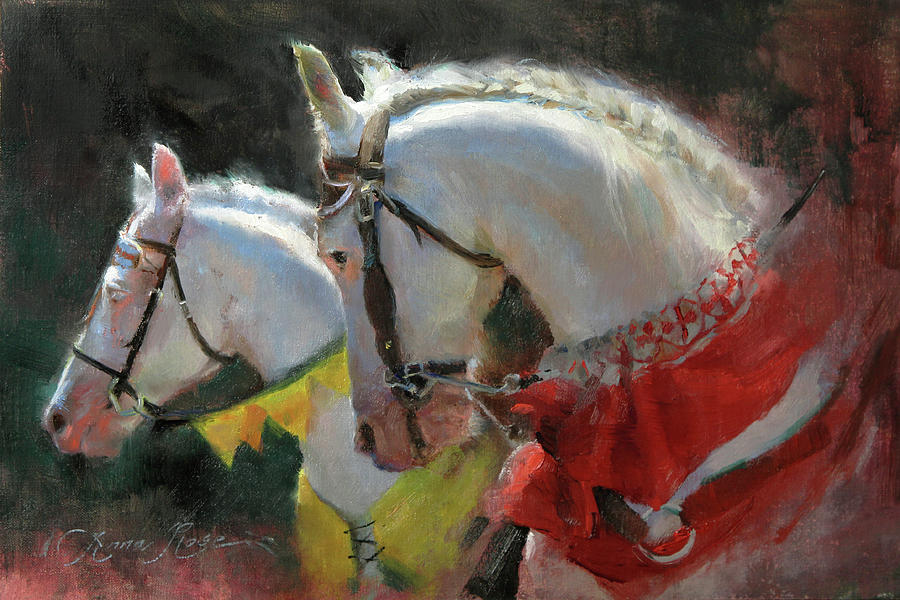 Horses Painting - All The Kings Horses by Anna Rose Bain