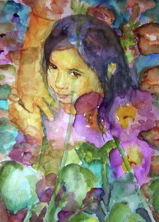 All the pretty flowers painting by p maure bausch for Pretty flower paintings