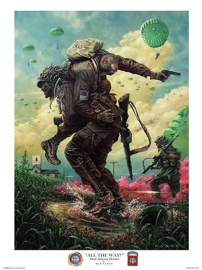 82nd Airborne Division Painting - All The Way by Dan Nance