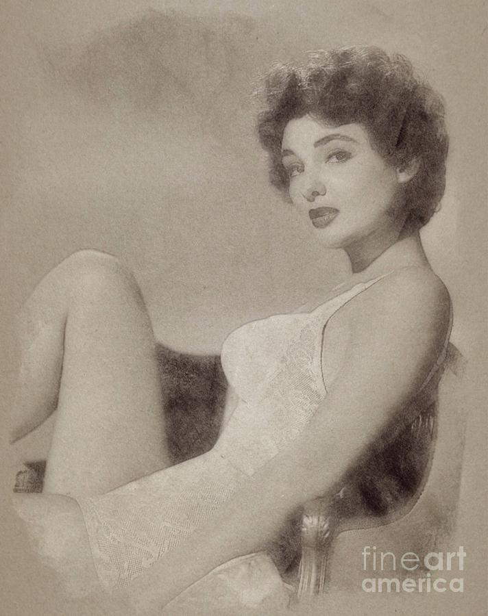 Allison Hayes, Vintage Actress Drawing