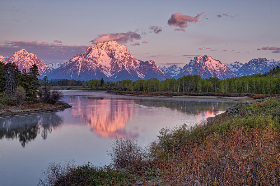 Alpenglow at Oxbow Bend by Joe Paul