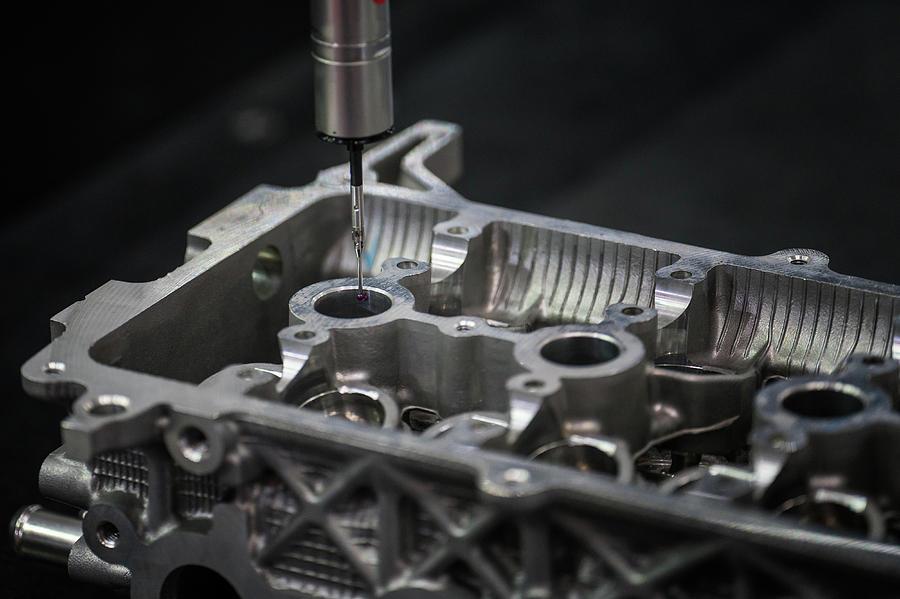 Cmm Photograph - Aluminium Auto Part Inspection By Cmm Dimension Check Machine by Anek Suwannaphoom