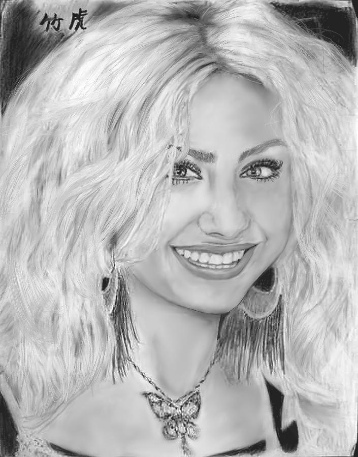 Alyson Michalka Drawing by Charles Jones