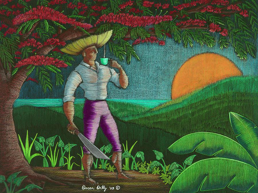 Puerto Rico Painting - Amanecer en Borinquen by Oscar Ortiz