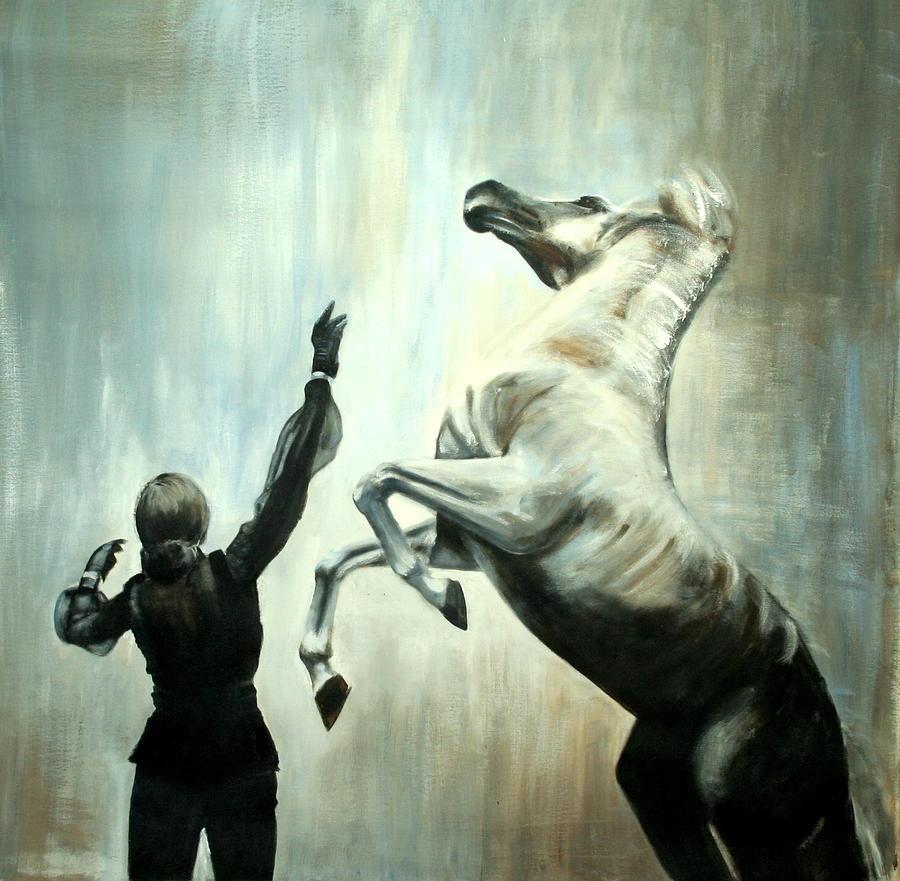 Horses Painting - Amazing Grace by Fiona Jack