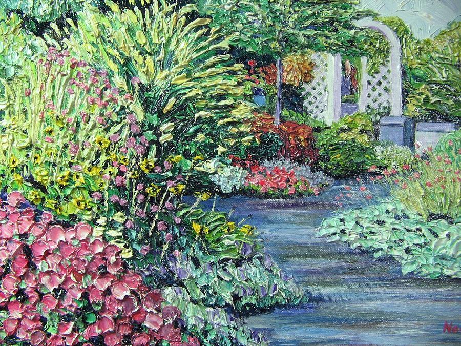 Garden Painting - Amelia Park Pathway by Richard Nowak
