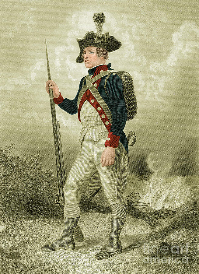 Illustration Photograph - American Continental Soldier by Photo Researchers
