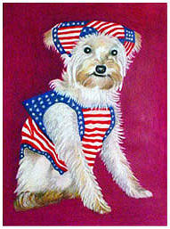 Dog Drawing - American Dog by Darrell Ross