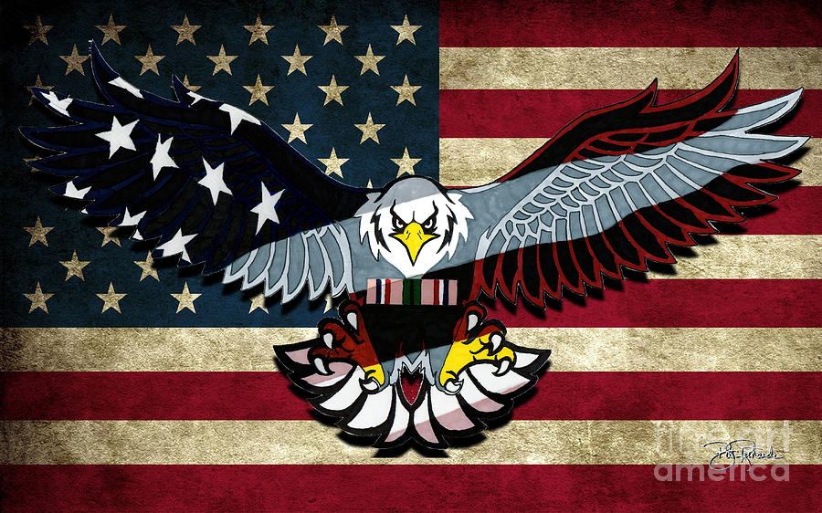 America Drawing - American Eagle by Bill Richards