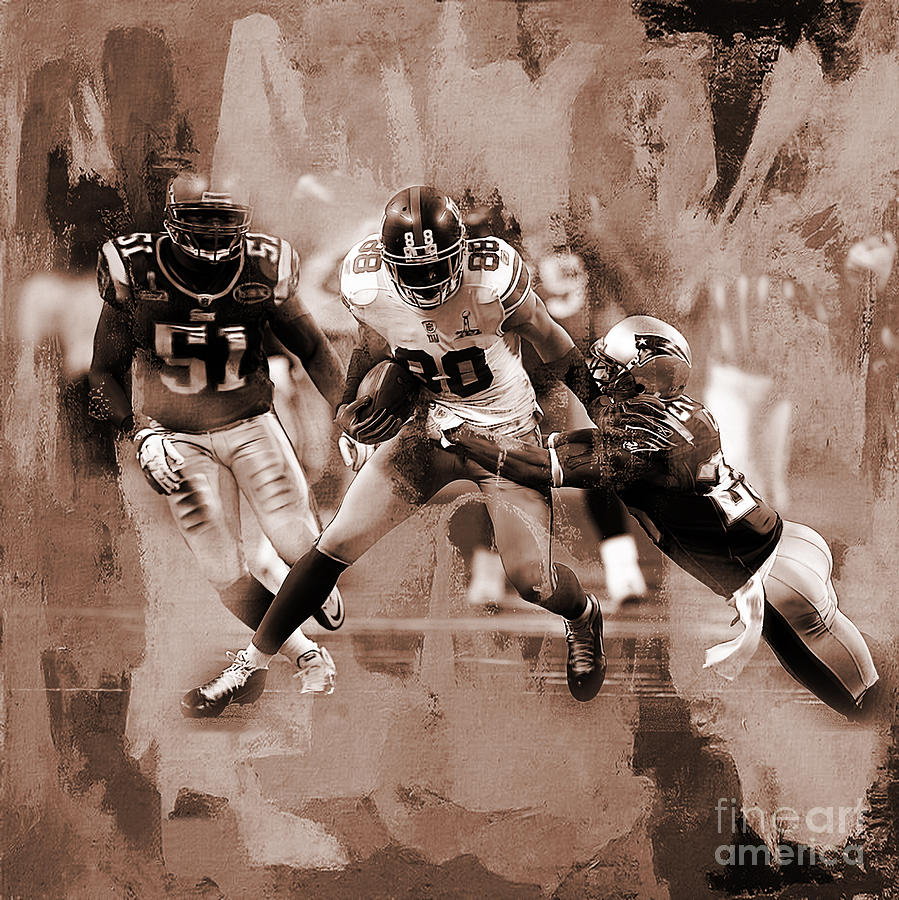 Russell Wilson Painting - American Football 02 by Gull G