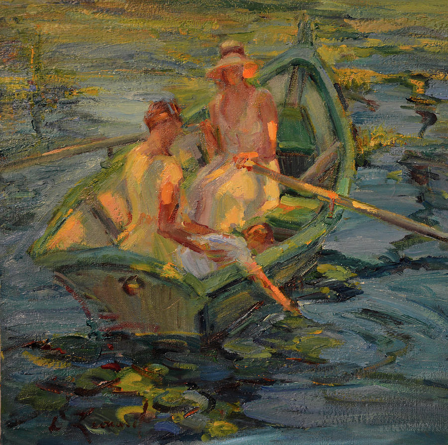 Among The Lilies Painting