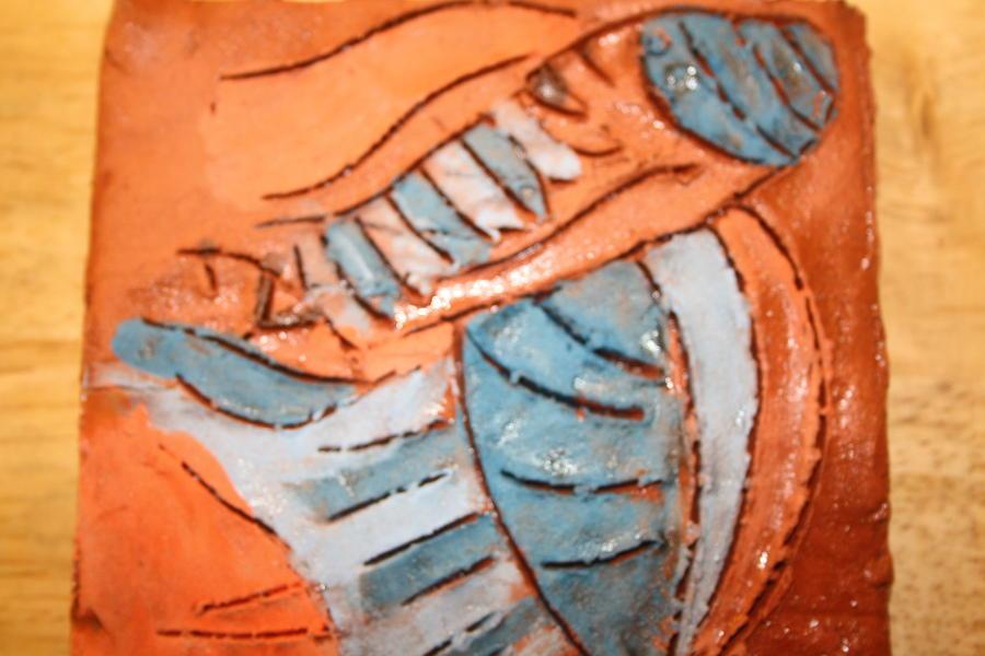 Jesus Ceramic Art - Amuweeke - Tile by Gloria Ssali