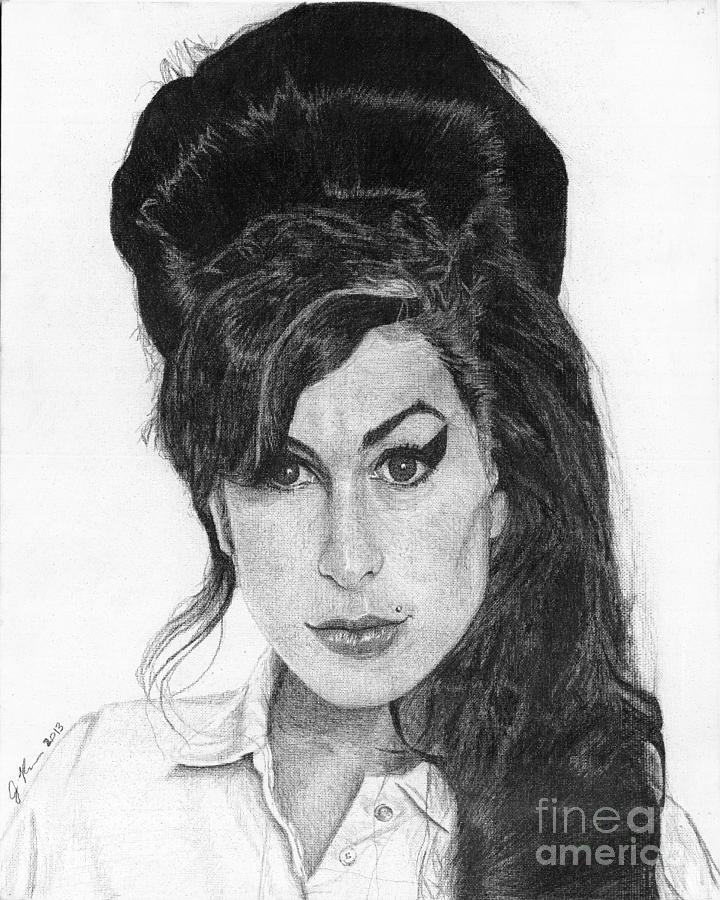 Amy Winehouse Drawing By Jeff Ridlen