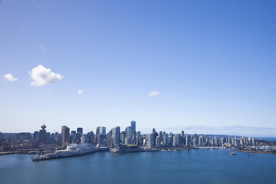 Vancouver Photograph - An Aerial View Of The City Of Vancouver by Taylor S. Kennedy