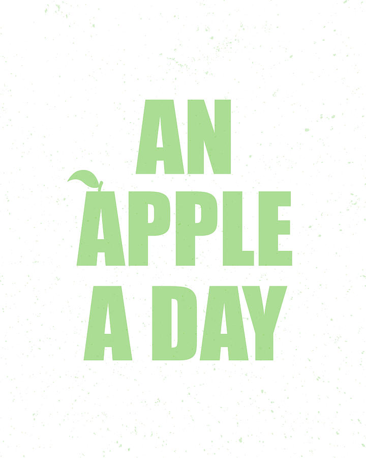 Apple Digital Art - An Apple A Day by Samuel Whitton