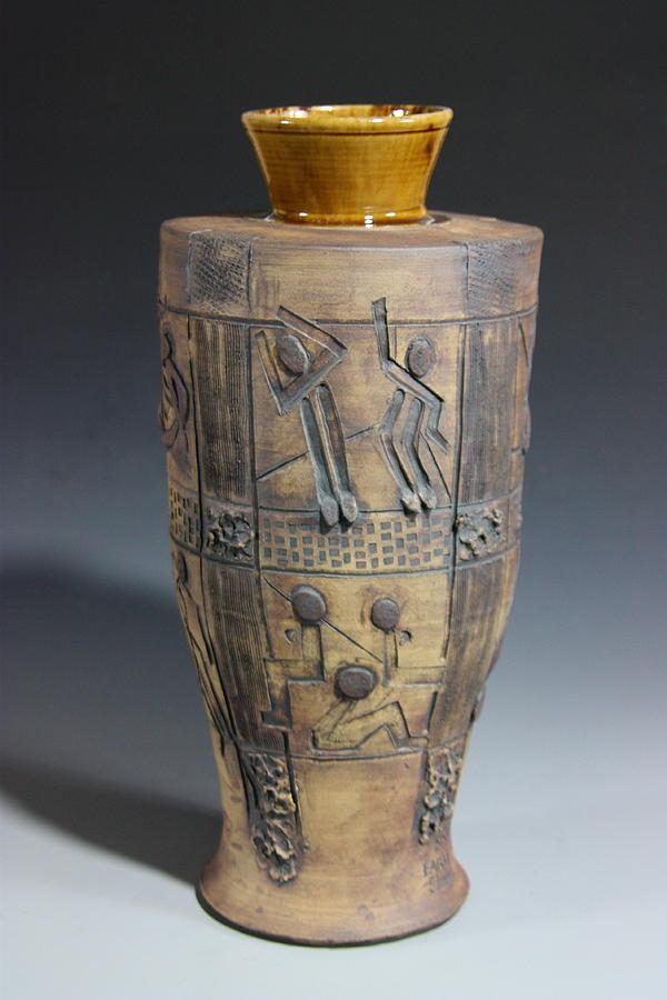 Art Vase Relief - Ancient Windows by Dan Earle