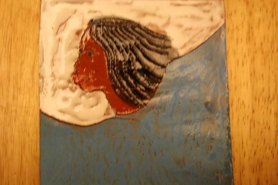 Jesus Ceramic Art - Angel - Tile by Gloria Ssali