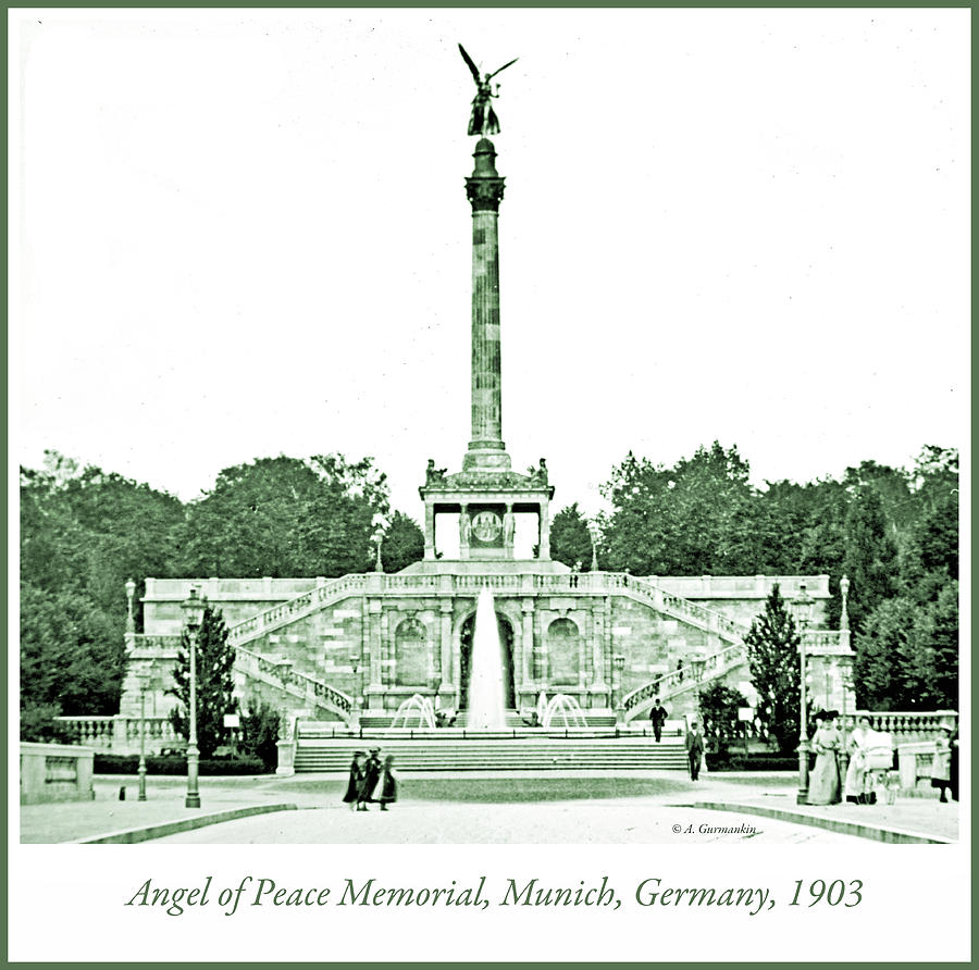 Monument Photograph - Angel Of Peace Memorial, Munich, Germany, 1903 by A Gurmankin