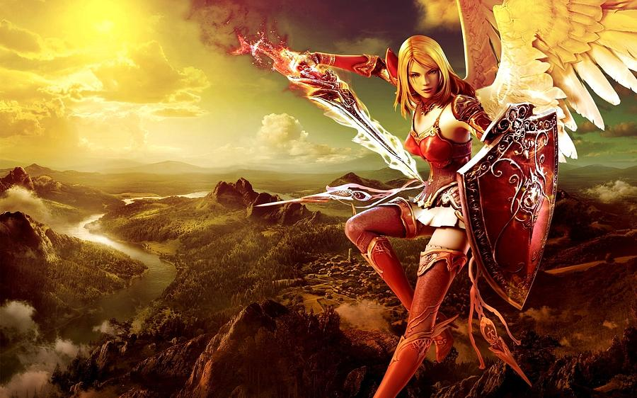 Angel Warrior Digital Art - Angel Warrior by Dorothy Binder
