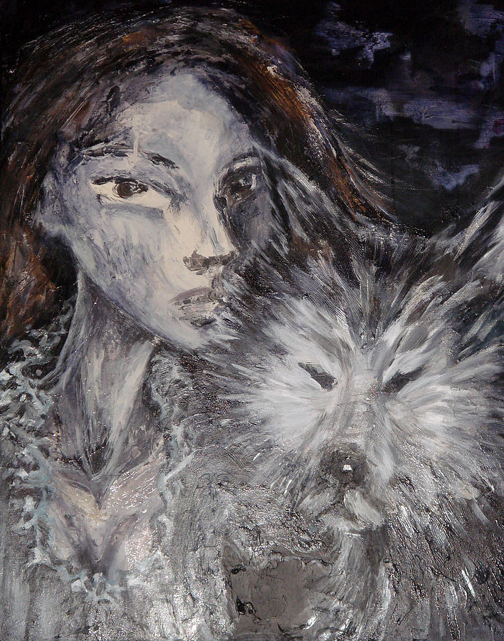 Portrait Painting - Animal Instinct by Jenni Walford