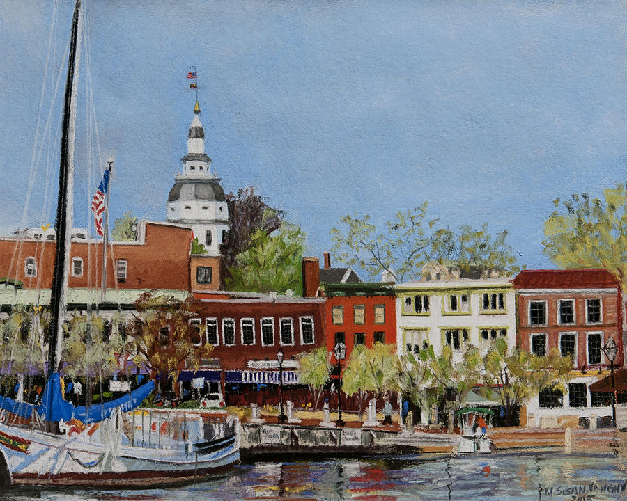 Annapolis Painting - Annapolis Harbor by Mary Susan Vaughn