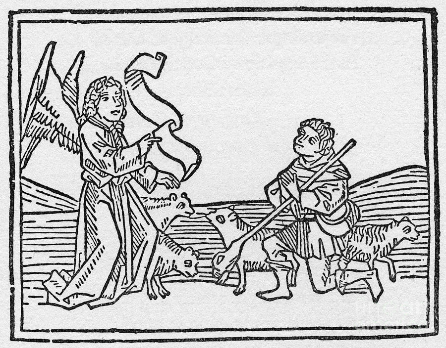 15th Century Drawing - Annunciation To Shepherds by Granger
