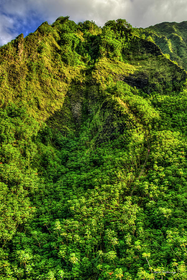 Honolulu Hawaii Photograph - The Climb Stairway To Heaven Hawaiian Landscape Hiking Trail Art by Reid Callaway