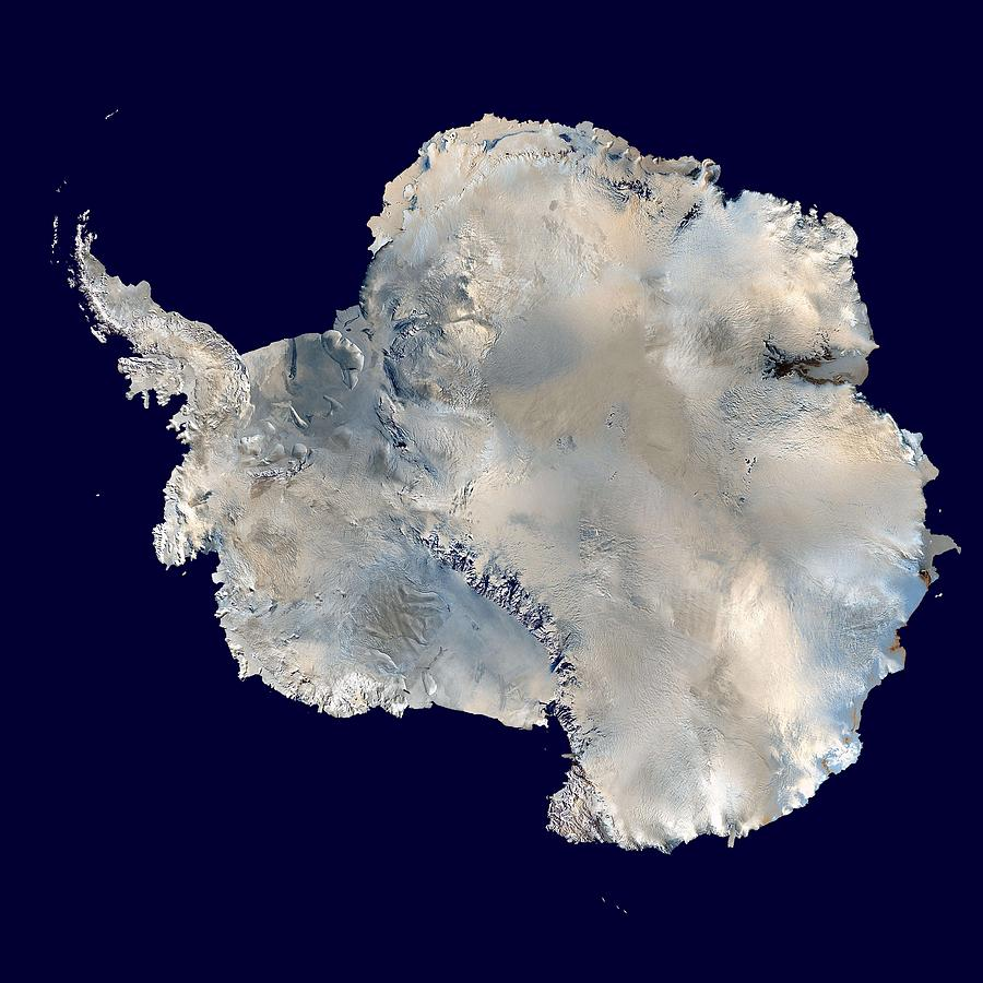 Antarctica Painting - Antarctica From Blue Marble by Celestial Images