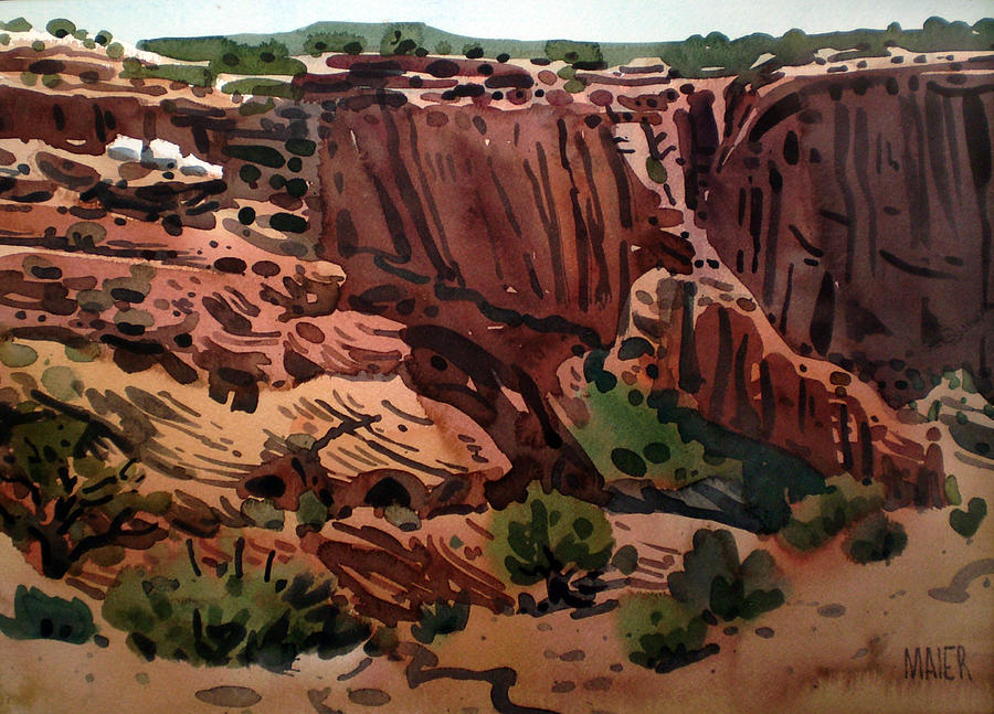 Canyon De Chelly Painting - Antelope House Overlook 2003 by Donald Maier