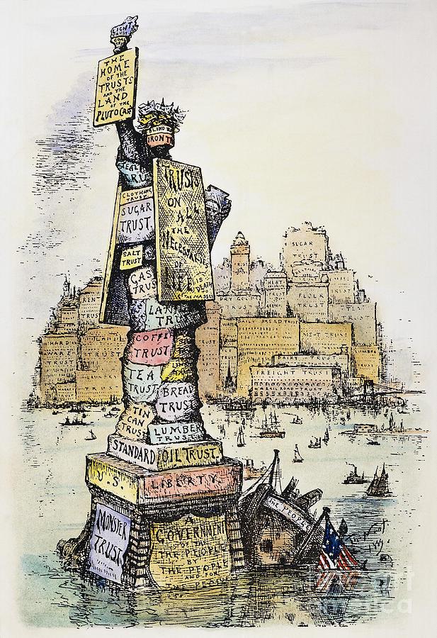 1889 Photograph - Anti-trust Cartoon, 1889 by Granger