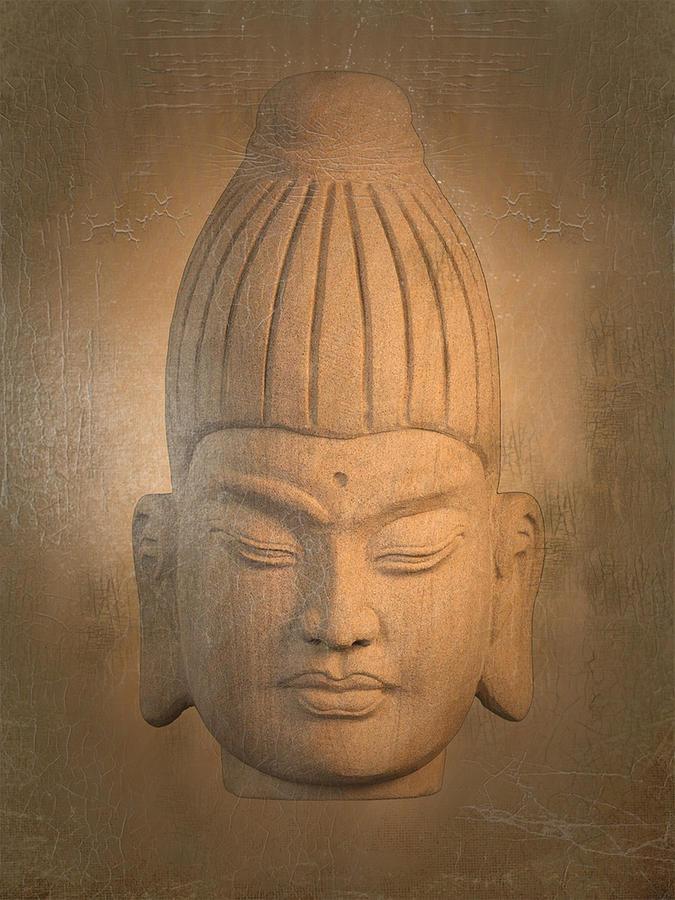 Antique Photograph - antique oil effect Buddha Burmese. by Terrell Kaucher