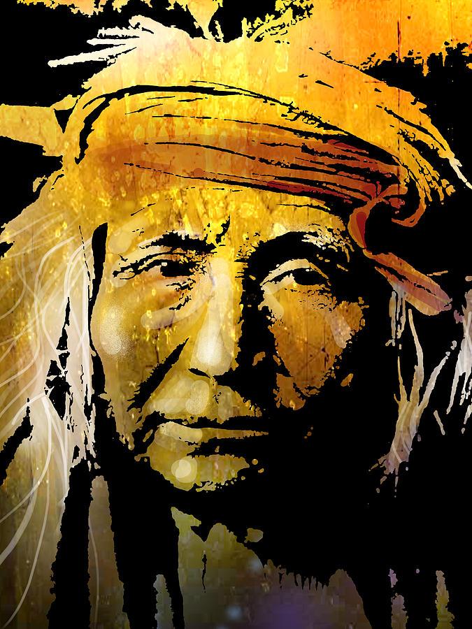 Native American Painting - Apache Brave by Paul Sachtleben