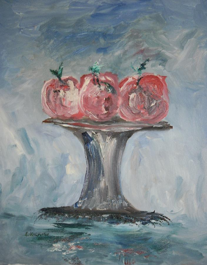 Still Life Painting - Apples by Edward Wolverton