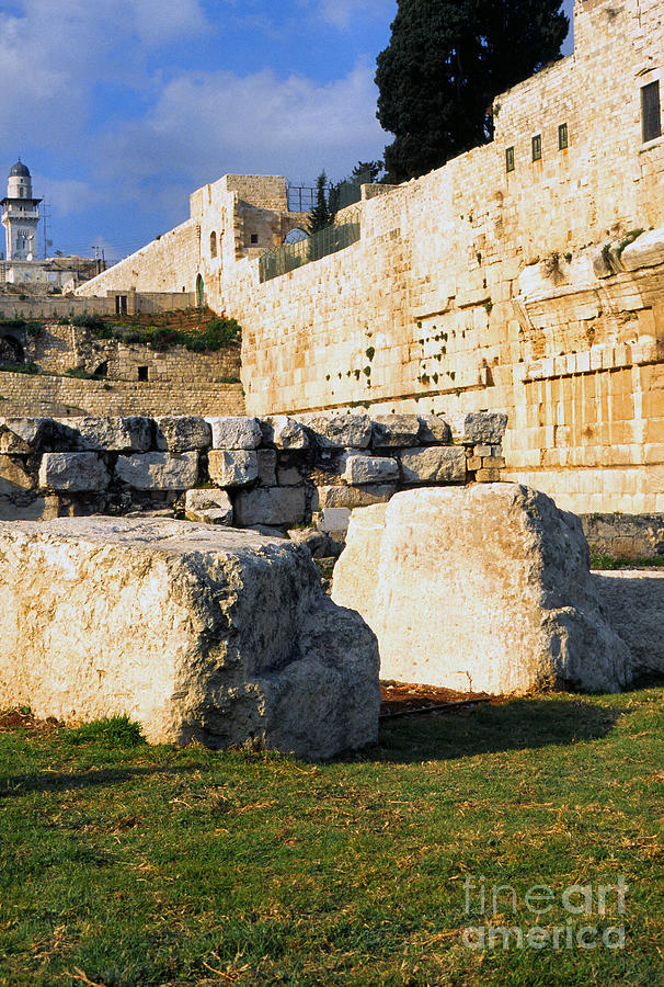 Israel Photograph - Archaeological Garden Southern Temple Mount by Thomas R Fletcher
