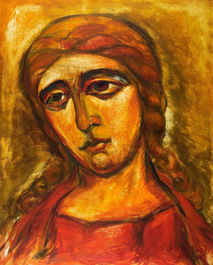Figurative Painting - Archangel Gabriel by Ekaterina  Prozheyko
