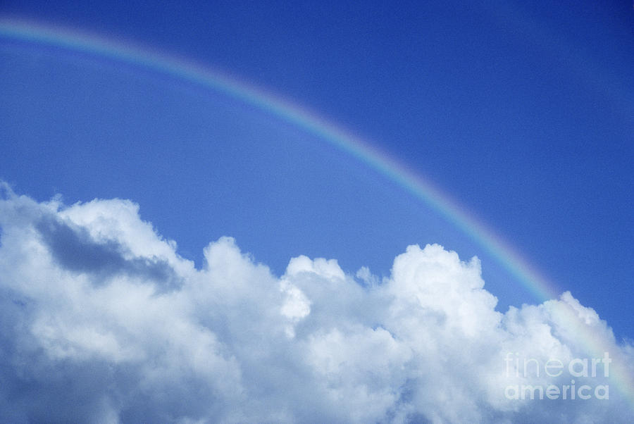 Above Photograph - Arching Rainbow by Carl Shaneff - Printscapes
