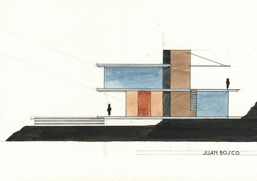 Architectural Drawing Painting - Architectural Drawing by Juan Bosco