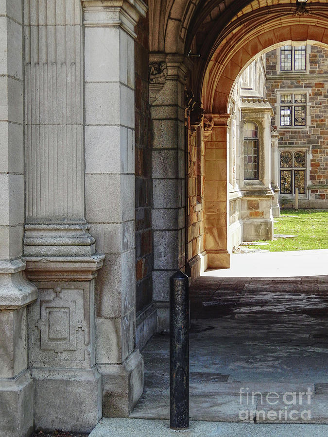 Ann Arbor Photograph - Archway To Courtyard by Phil Perkins