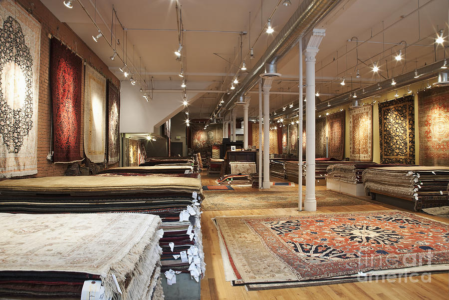 area rugs in a store photograph by jetta productions, inc