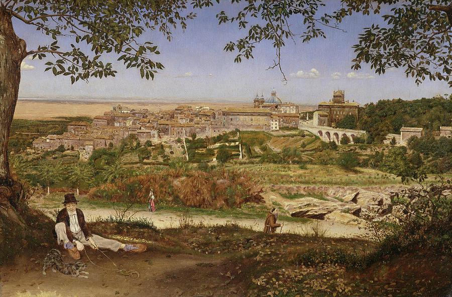 John William Inchbold Painting - Ariccia, Near Rome, Italy by John William Inchbold