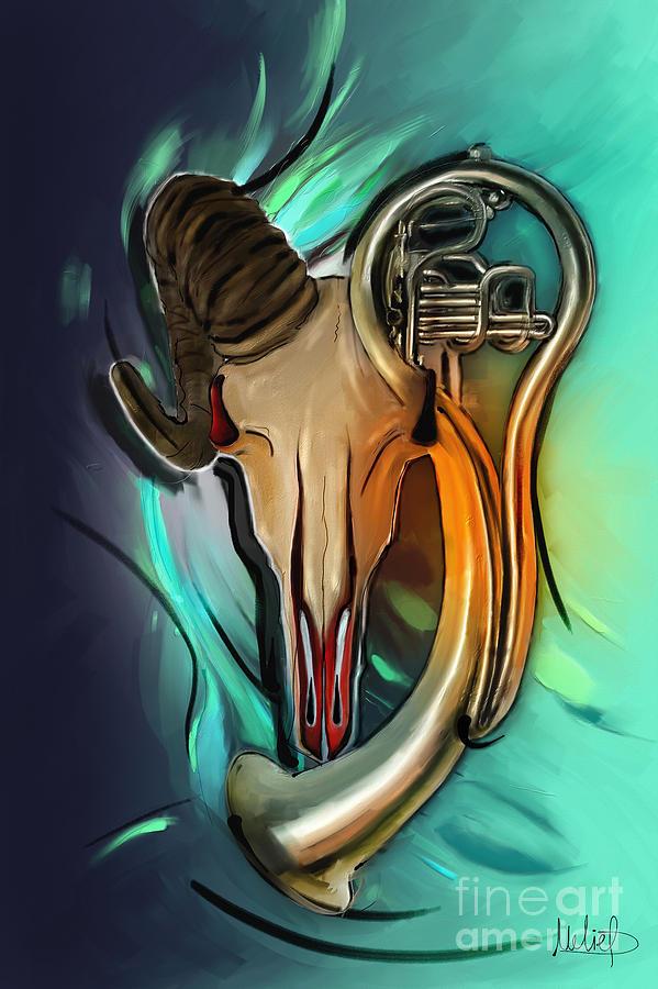 Aries Painting - Aries by Melanie D