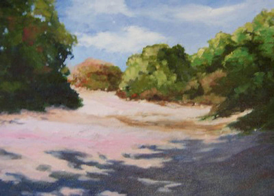 Landscape Painting - Around The Corner by Maralyn Miller