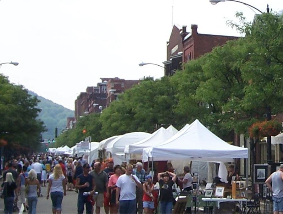 Art Festival Vendors Photograph by Lila Mattison