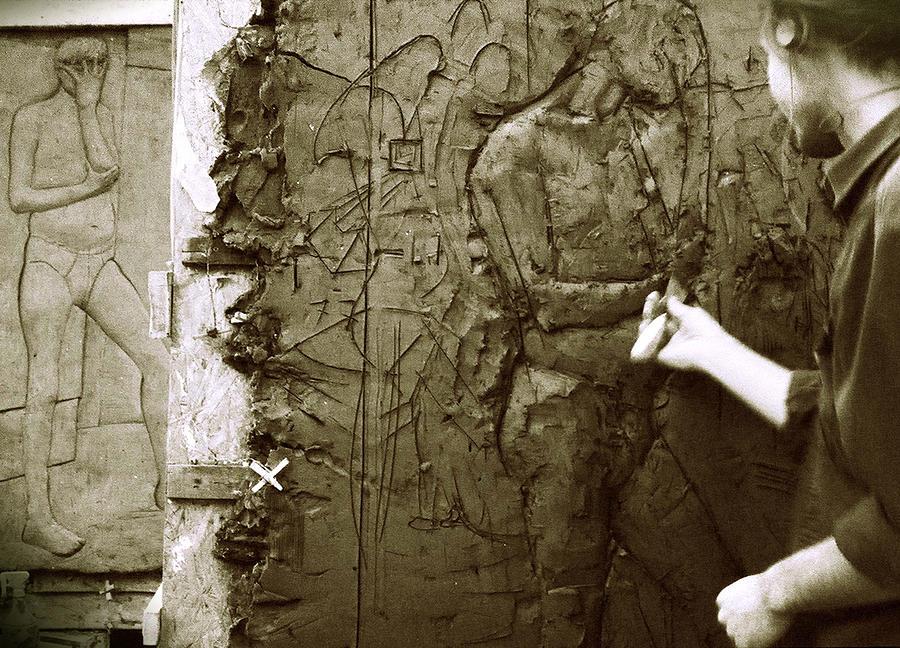 Sculpting Photograph - Artist At Work by Katarzyna Horwat