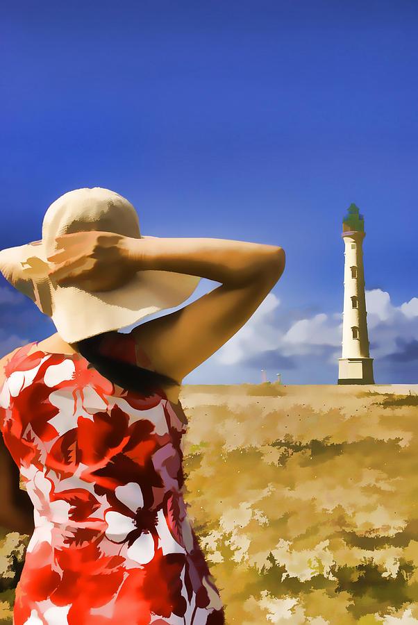 Caribbean Photograph - Aruba Lighthouse by Dennis Cox WorldViews