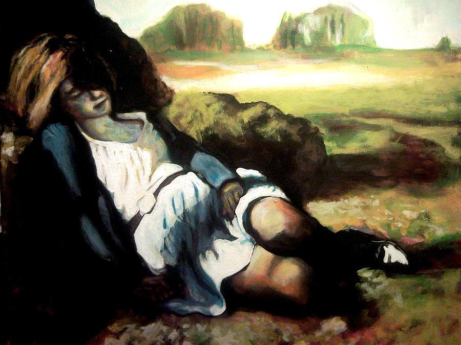 Asleep Painting by Gabriel Aceves