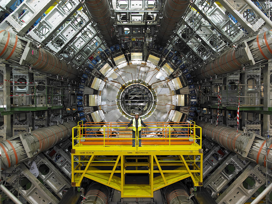 Atlas Photograph - Atlas Detector, Cern by David Parker