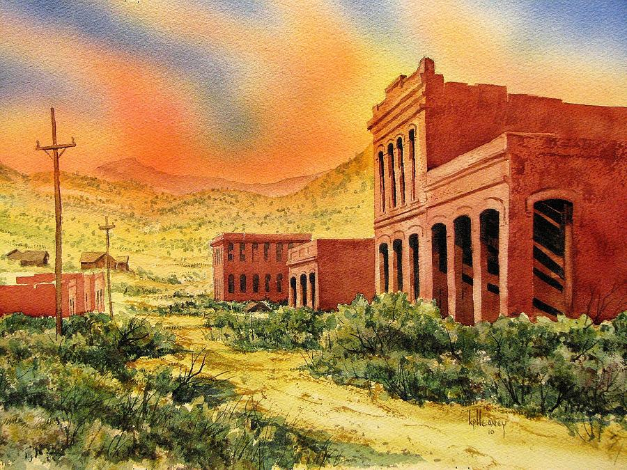 Ghost Town Painting - Aurora Ghost Town Nevada by Kevin Heaney