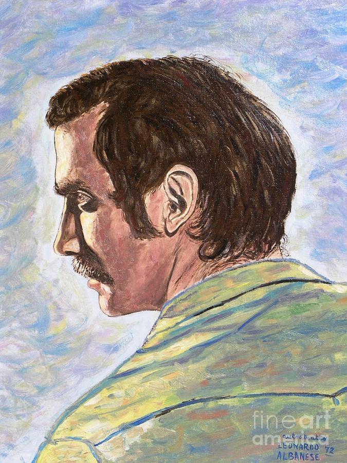 Portrait Painting - Autoritratto A 20 Anni by Leonardo Albanese