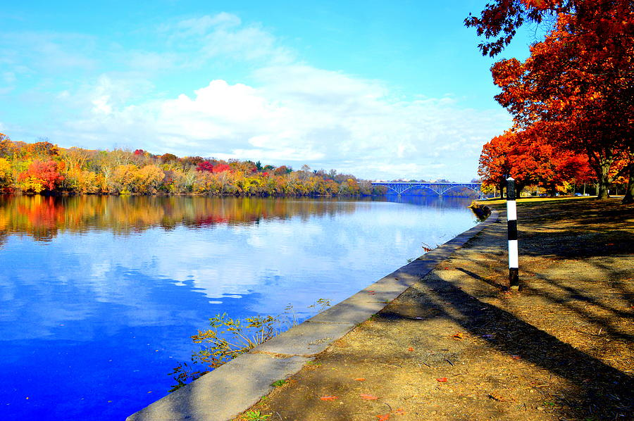 Autumn Photograph - Autumn Afternoon On The Schuykill River by Marla McPherson
